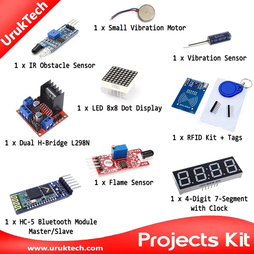 Arduino Projects Kit Uruktech Electronic Microcontroller H Bridge Circuit Kits Bundles Microcontrollers Development Boards