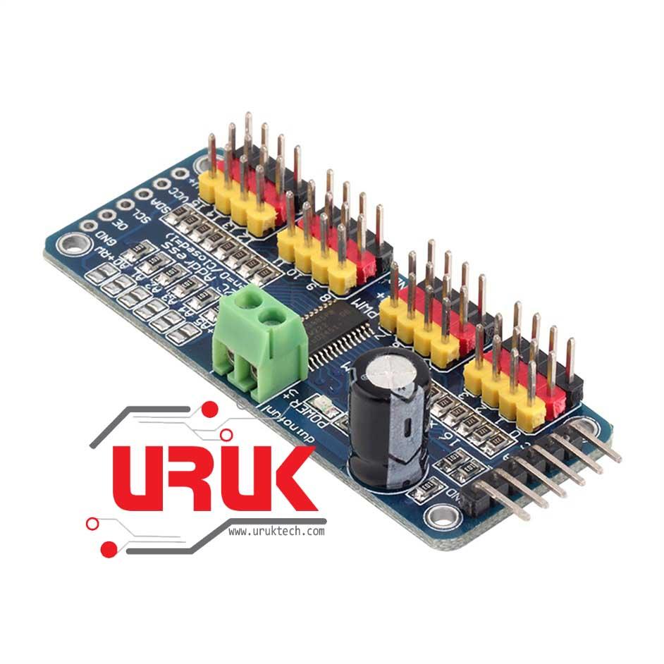 16 Channel 12-bit PWM/Servo Driver PCA9685 with I2C Interface   UrukTech