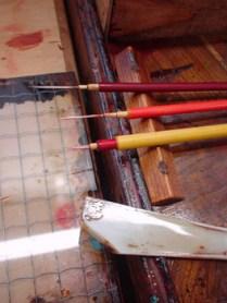 筆と筆洗い