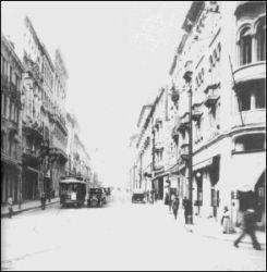 Rua Líbero Badaró na época da polêmica exposição de Anita Malfatti