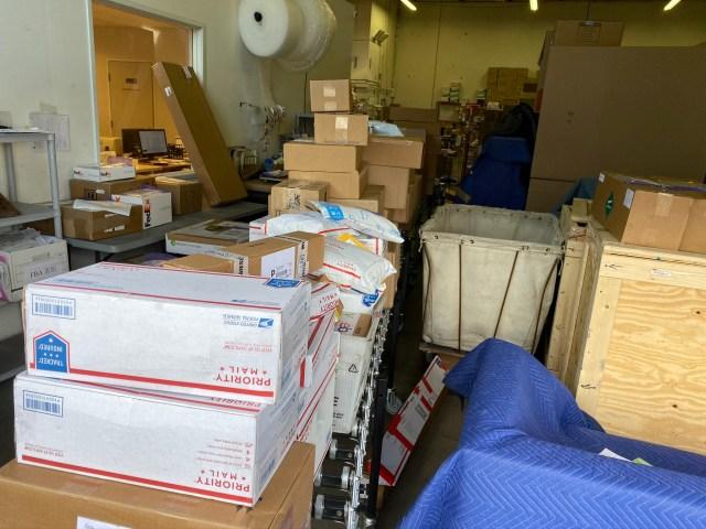 アメリカから日本への荷物が増えています。