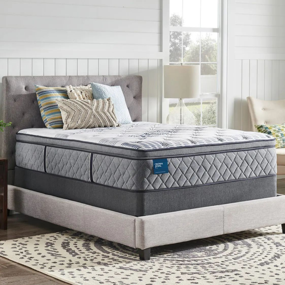 king sealy crown jewel performance roseway plush pillow top 15 inch mattress