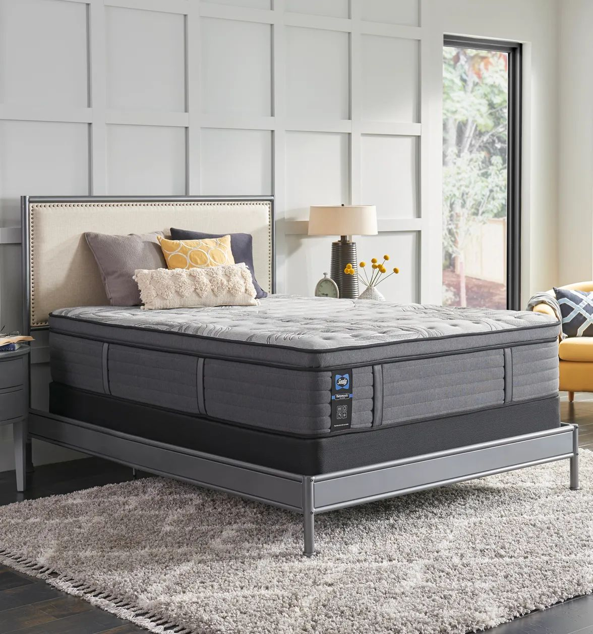 king sealy posturepedic plus warrenville v 14 inch soft pillow top mattress
