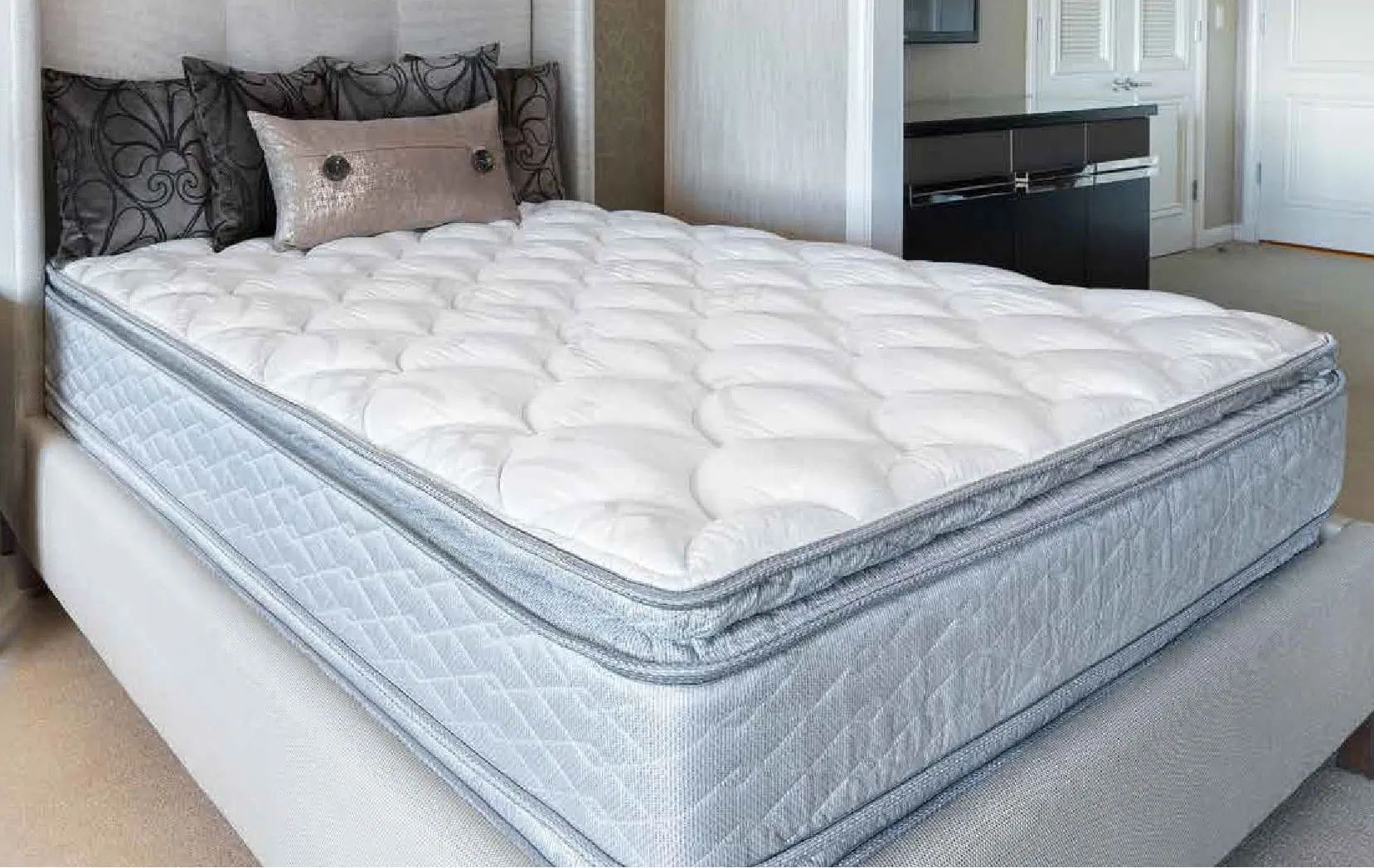 cal king serta perfect sleeper hotel congressional suite supreme ii euro pillow top double sided 13 inch mattress