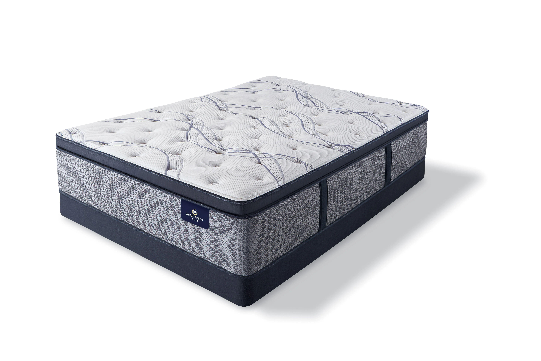 king serta perfect sleeper elite trelleburg ii plush pillow top 14 25 inch mattress
