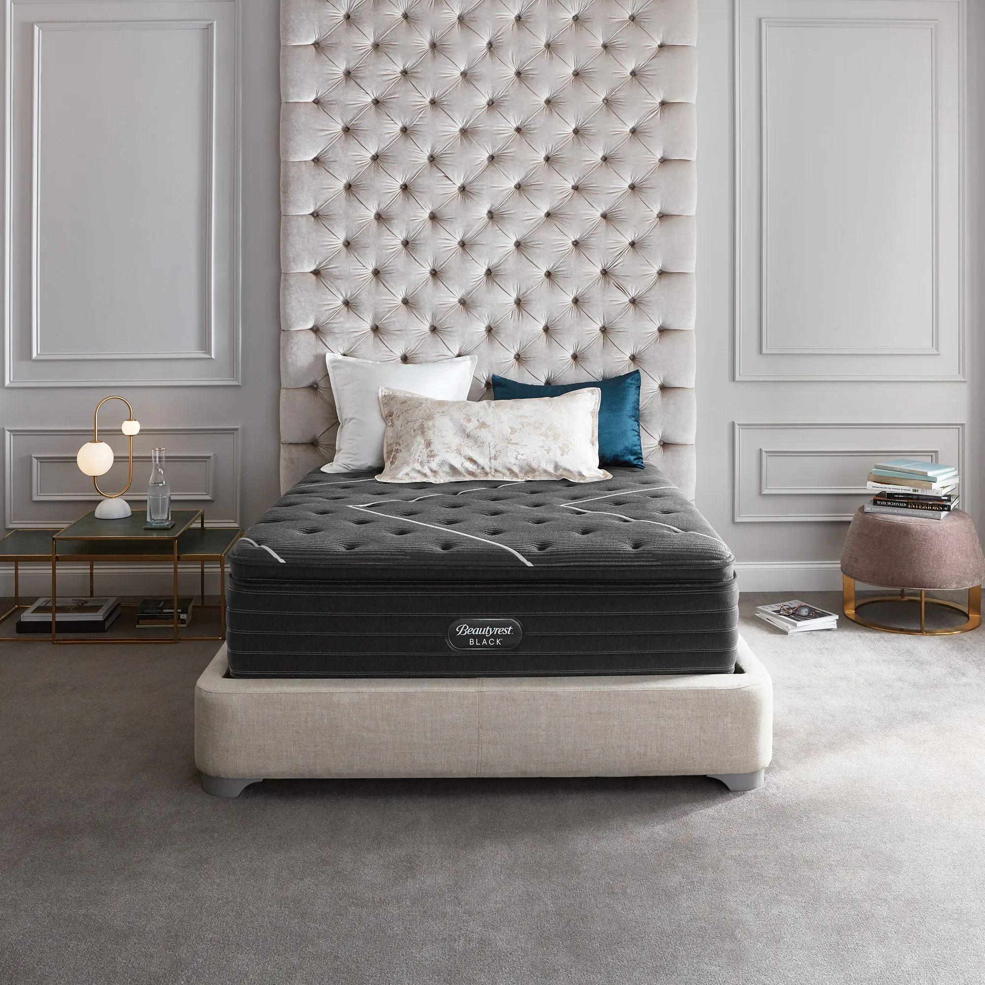 king simmons beautyrest black k class firm pillow top 17 5 inch mattress free 300 visa gift card