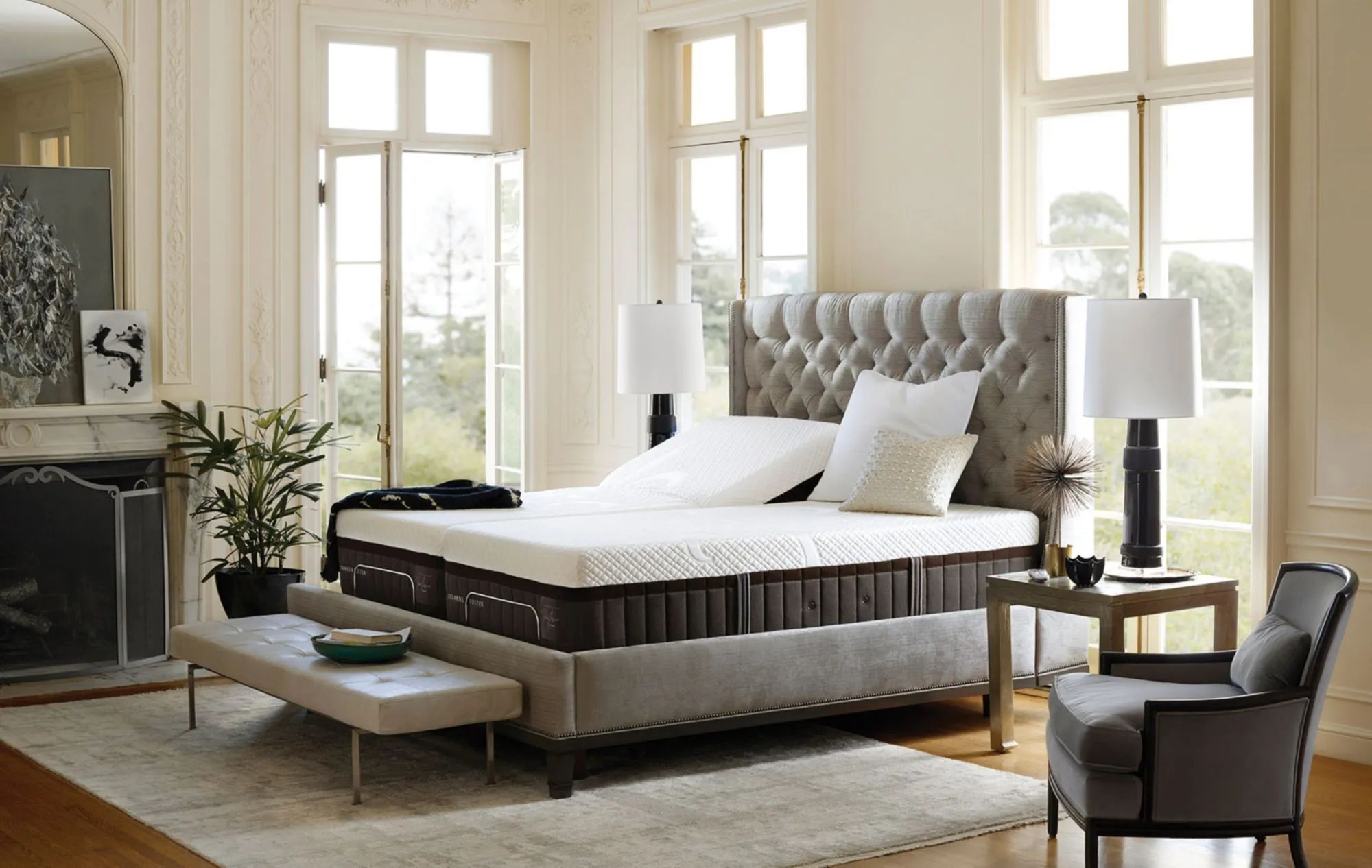 king stearns foster lux estate hybrid mary leigh luxury plush 15 inch mattress