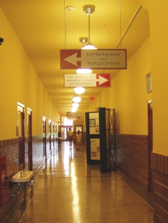 Hallway at Brown v. Board School