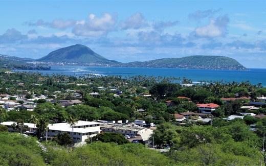 Blick über Oahu