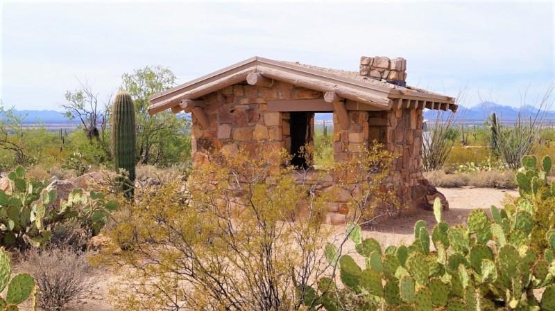 Toilettenhäuschen im Saguaro Nationalpark
