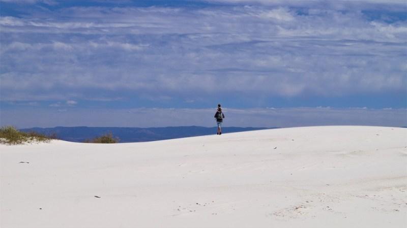 Spazieren im White Sands National Monument