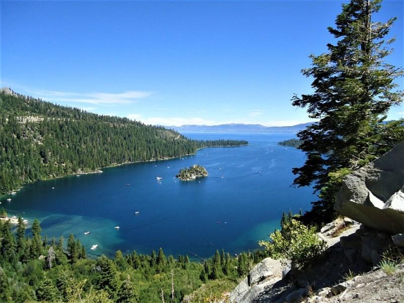 Lake Tahoe als hochgelegener Bergsee