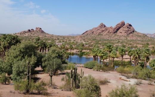 Der Papago Park in Phoenix