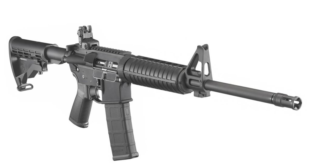 Ruger AR-556 - A budget Colt M4 style AR-15 for less than $550. Discount guns for sale here.
