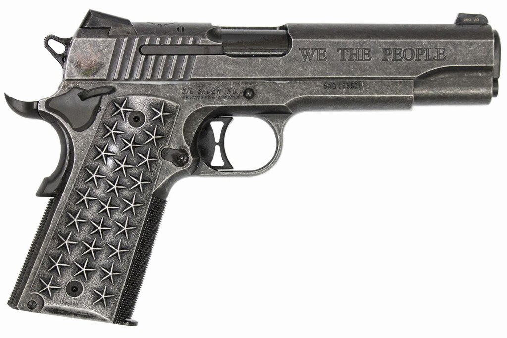 Sig Sauer We The People, one of the best 45 ACP 1911s for sale under $2000.
