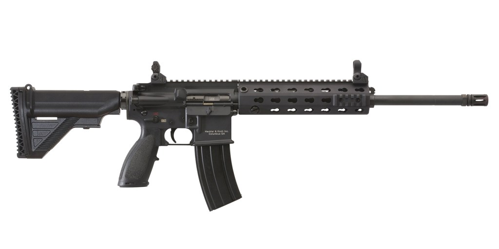 Heckler & Koch MR556A1 for sale. The direct descendant of the HK 416 rifle and you can buy one online from the best online gunbroker - the USA Gun Shop.