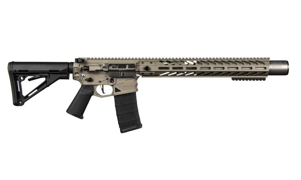 NEMO Arms Battle Light 5.56 AR-15 - A designer rifle with a silencer built in.