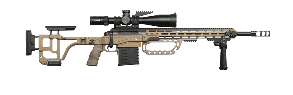 The Victrix Scorpio Mille sniper rifle in 300 Win Mag. Functional gunporn, rifle art,, call it what you want. It's a modular, multi caliber rifle and it's 7.5K!