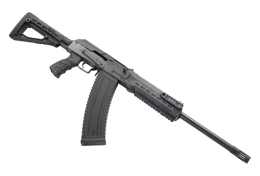 The Kalashnikov KS-12T 12 Gauge Shotgun for sale. A modern AK-47 based mag-fed shotgun.