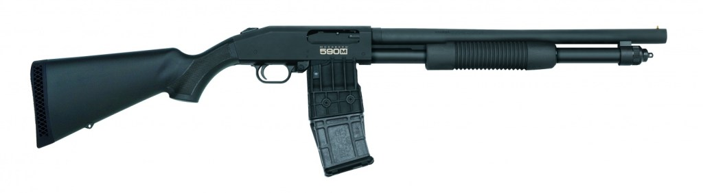 Mossberg 590M, one of the best mag fed shotguns for sale. Buy firearms online at the best prices now.
