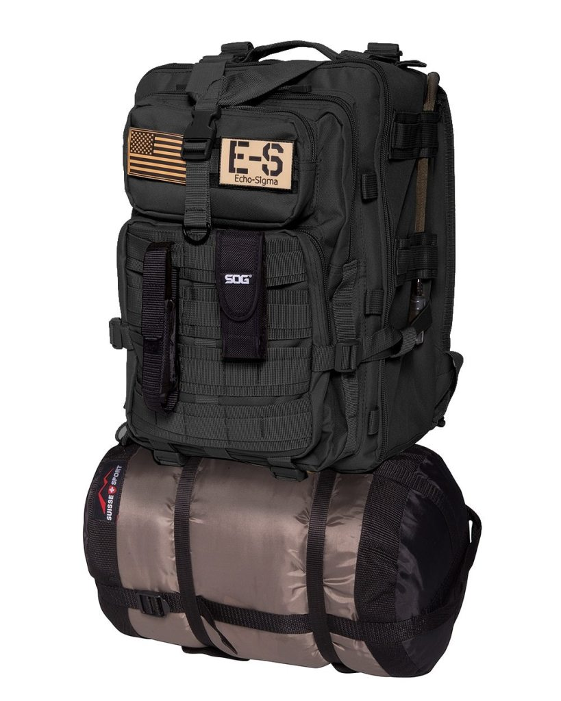 EchoSigma Emergency Systems Bug Out Bag for sale. Get your SHTF, emergency survival kit here.