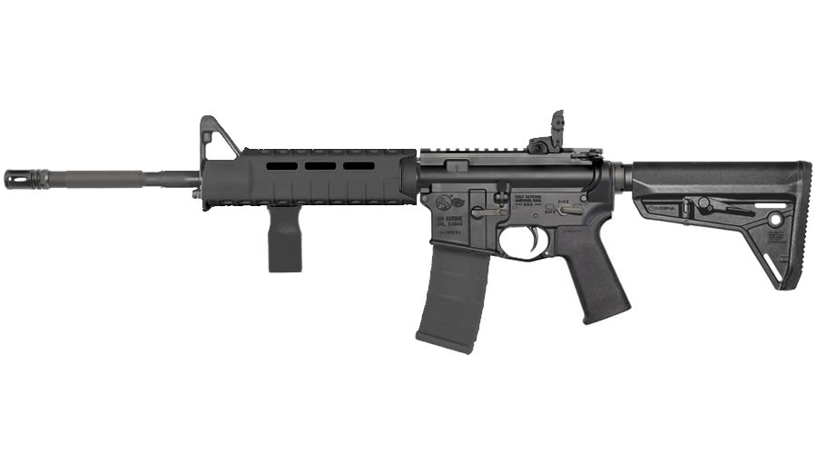 Colt M4 Carbine MAGPUL SL for sale. The classic Colt M4 AR-15 with that dramatic free float handguard and fixed front sights, folding rear sights and a collapsible stock.