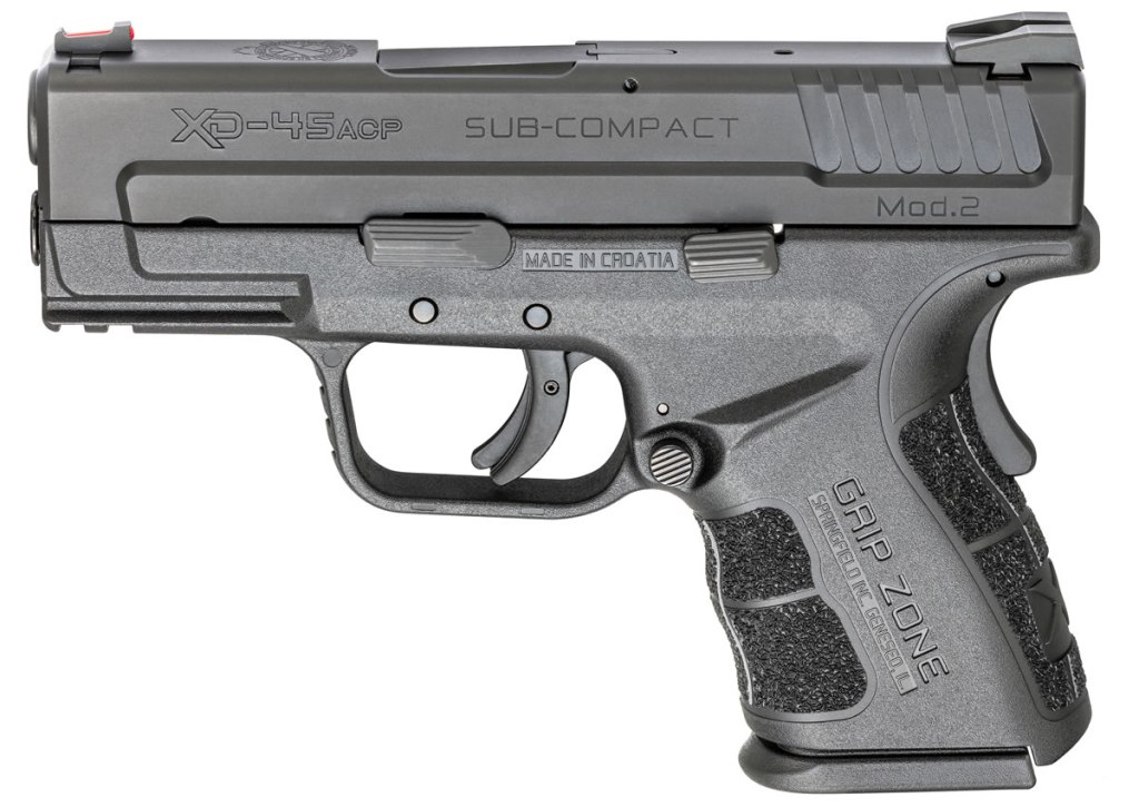 Springfield Armory XD Mod 2. One of the best sub-compact 45 ACP carry guns for sale in 2019.