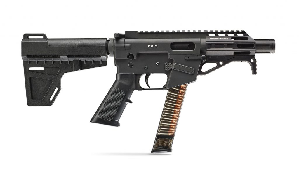 The Freedom Ordnance FX-9 Pistol, one of the best 9mm AR pistols on sale in 2019.