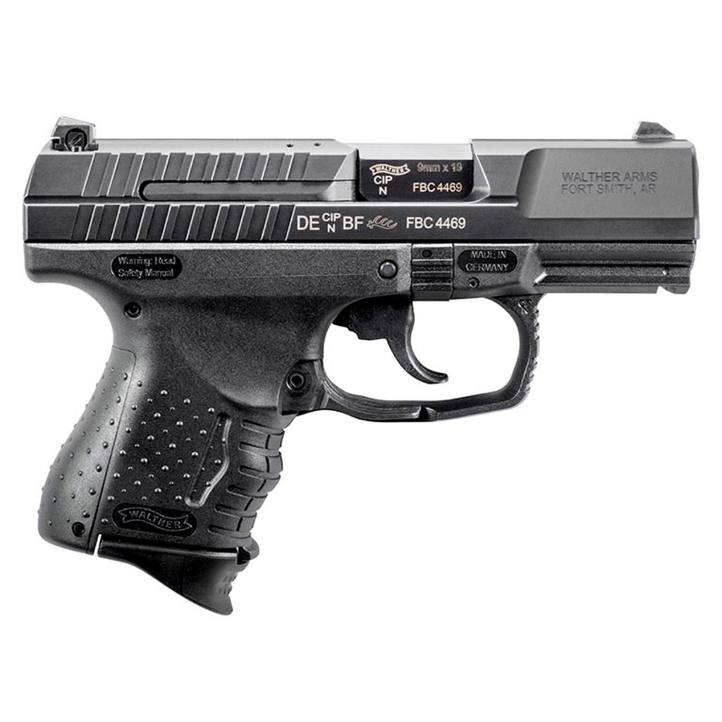 Walther Arms P99. A great concealed carry 9mm pistol and the star of the motorcycle scene in John Wick 3. Check out the John Wick Guns here.