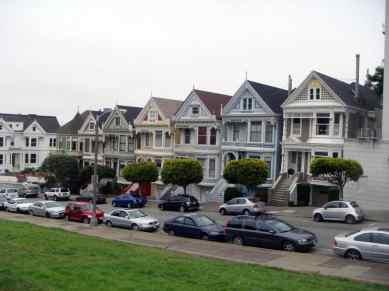Die berühmten viktorianischen Häuser Painted Ladies in San Francisco, USA