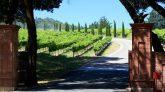 Eingang zu einem kalifornischen Weingut im Napa Valley