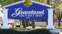 Graceland in Memphis, Tennessee ist der ehemalige Wohnsitz des legendären Elvis Presley