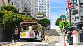 Die berühmten Cable Cars in San Francisco.