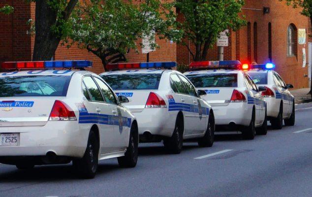 Polizeikolonne in den USA