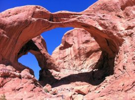 Der double Arches im Canyonland, USA.