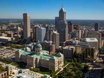 Stadt Indianapolis von Oben