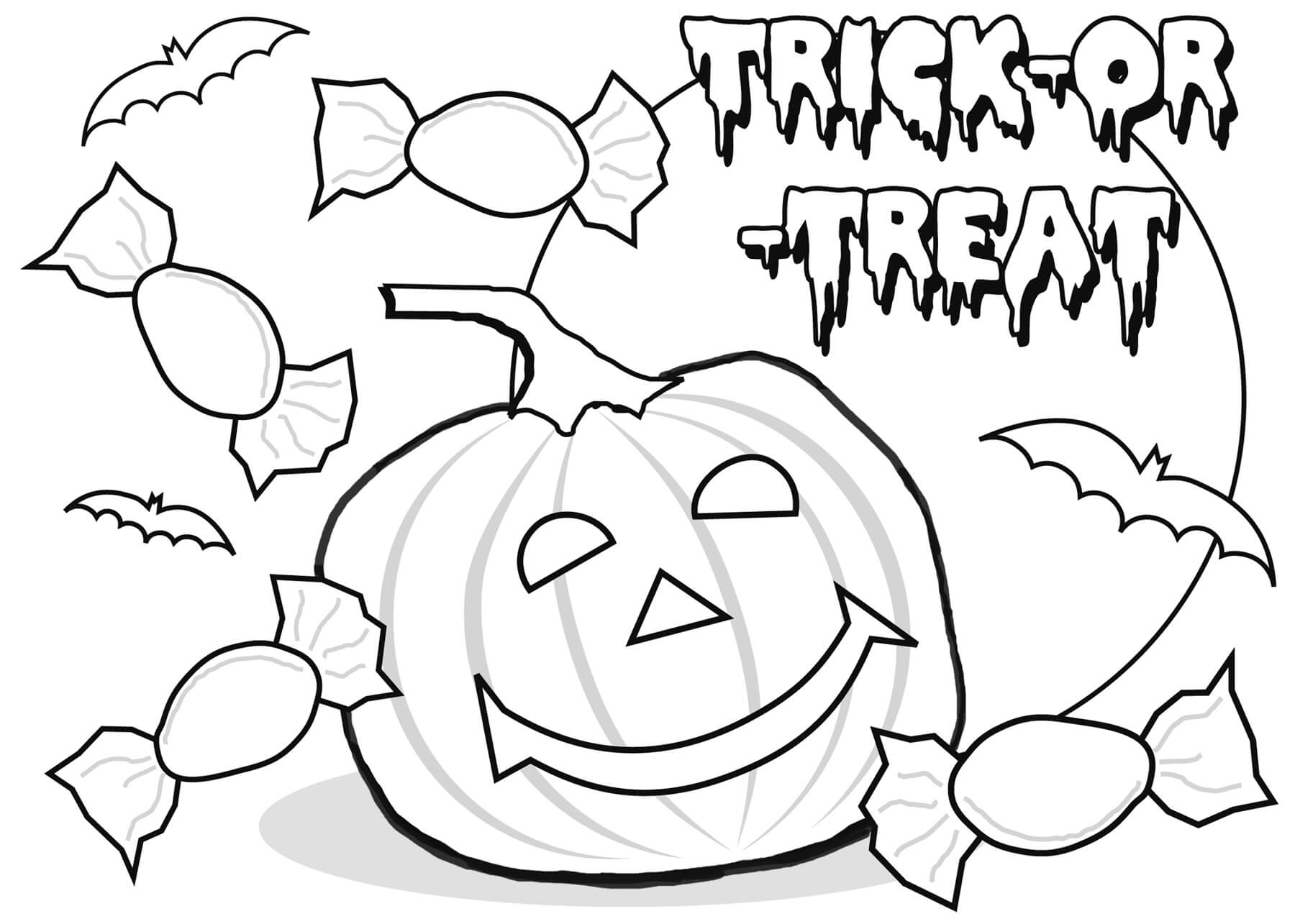 Happy Halloween Coloring Pages Printable Free For Kids