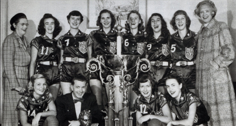 FIRST WORLD CHAMPIONSHIP FOR WOMEN-- 1953