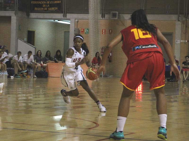 USA Basketball - U19 Women Defeat Spain in Exhibition Game