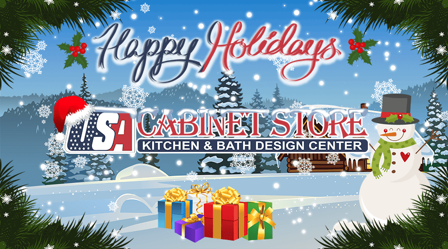 We Wish You A Holiday Season Filled With Cheer And The Very Best In The  Coming New Year. USA Cabinet Store Footer Logo