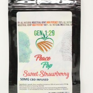 strawberry cbd peace pop