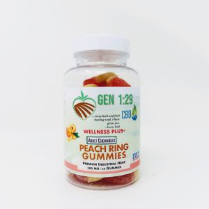 500mg cbd peach gummies