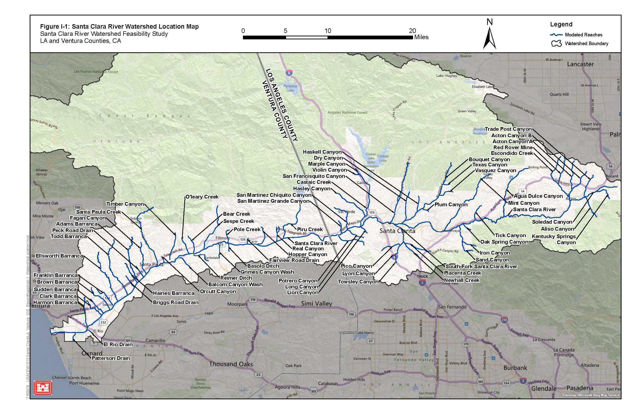 Los Angeles District Gt Missions Gt Civil Works Gt Projects Amp Stu S Gt Santa Clara River Watershed