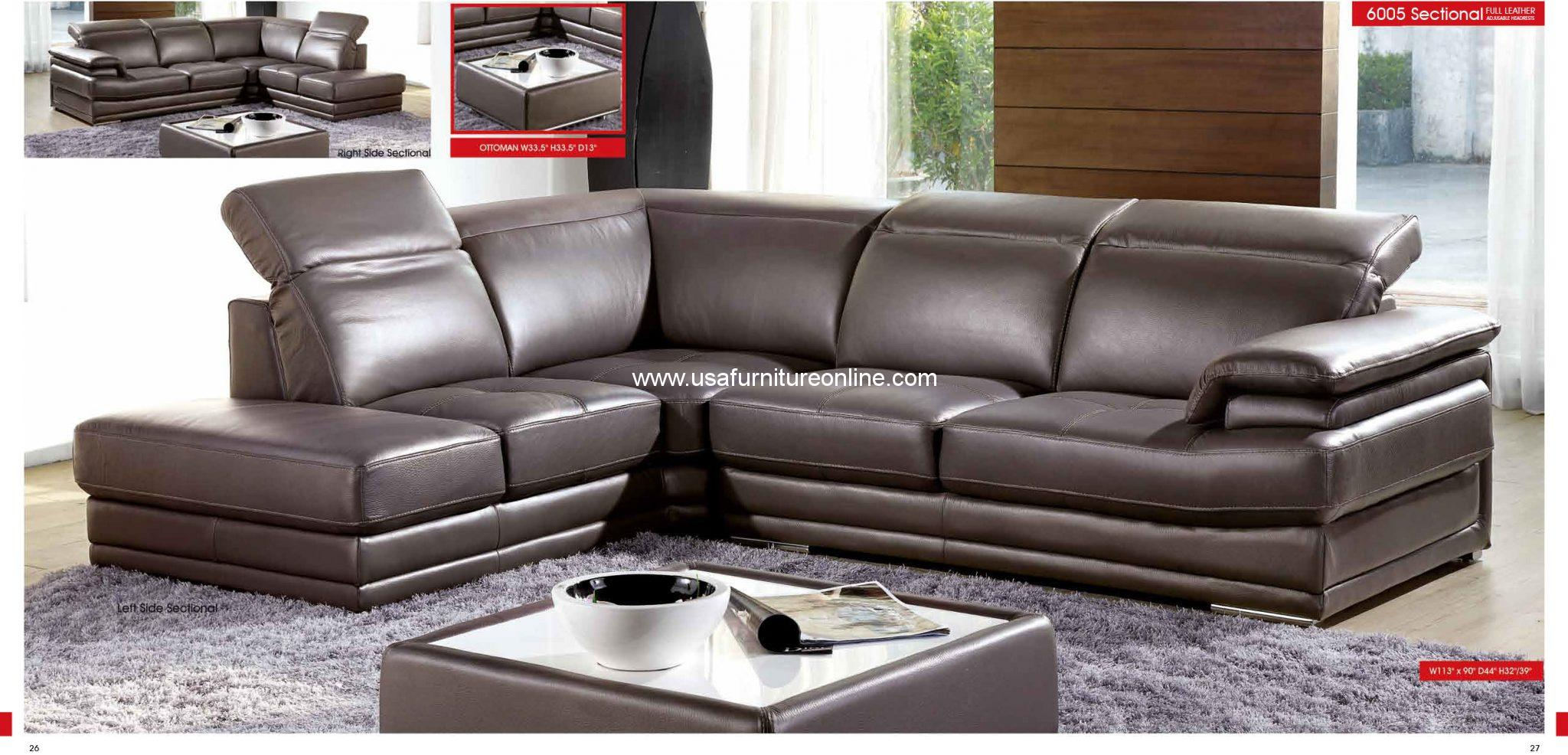Stupendous Esf Modern 6005 Grey Genuine Italian Leather Sectional Set Unemploymentrelief Wooden Chair Designs For Living Room Unemploymentrelieforg