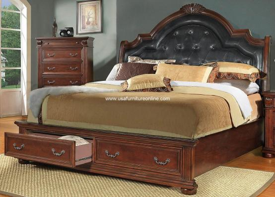Homelegance Silas Storage Bed and Nightstand