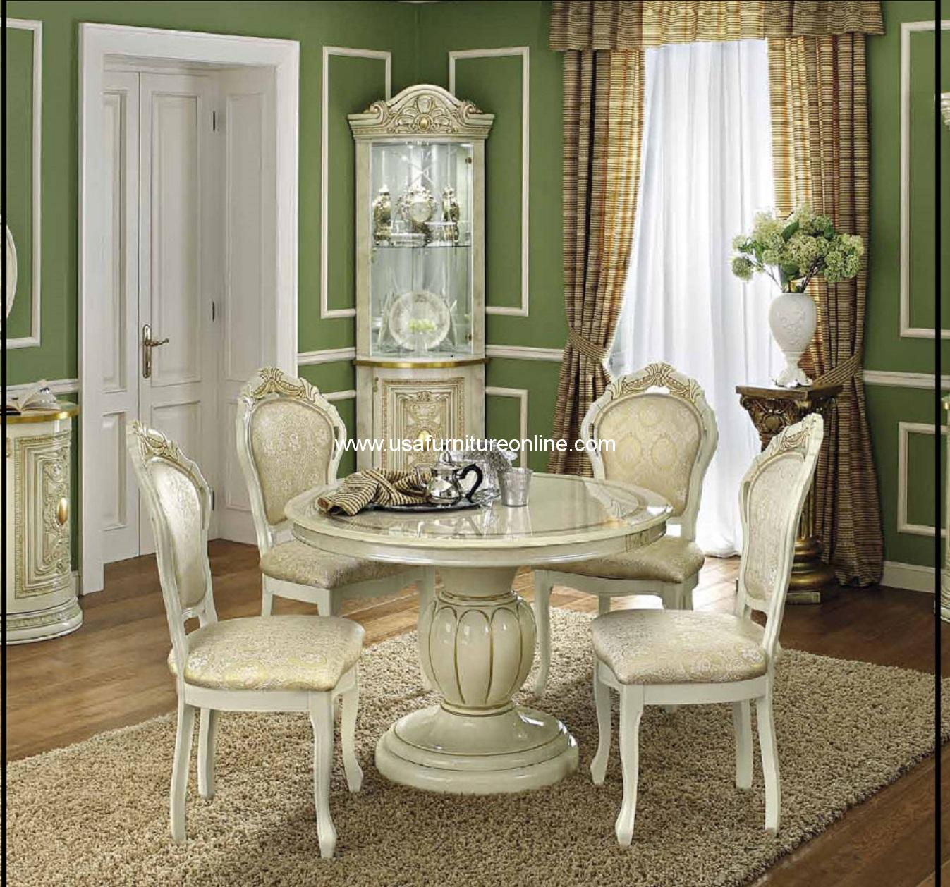 Clearance Dining Room Chairs: Round ESF Leonardo Dining Set • USA Furniture Online