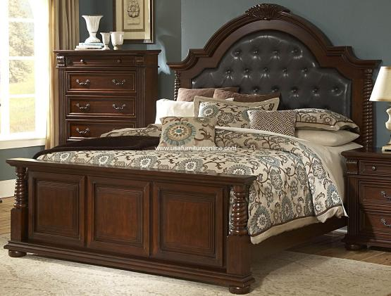 Homelegance Silas Bed and Nightstand