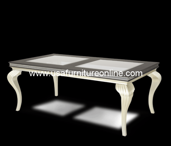 Hollywood Swank Caviar Dining Table