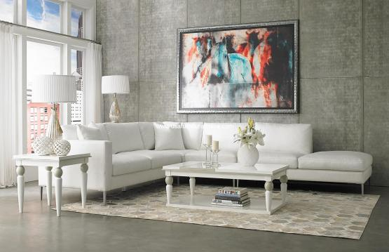 Aeria Fabric Sectional Set