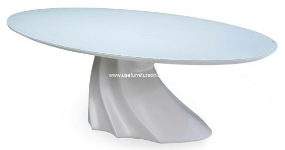 Cosmo Modern Oval Cocktail Table